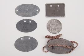 6 x German military identification tags pre 1918