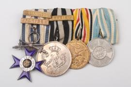 Medal Bar of a Bavarian China Veteran