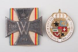 Lot of two Mecklenburg regimental related badges
