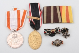 Lot of six awards and miniatures