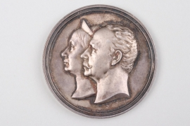 Saxe-Weimar - Jubilee Medal to the golden Wedding Anniversary - table medal