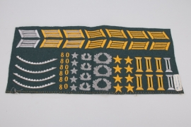 Lot of unfinished officers' insignia