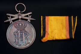 Reuss - Princely Reussian Cross of Honor Silver Merit Medal with swords