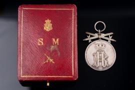 Reuss - Cross of Honor Silver Merit Medal with swords