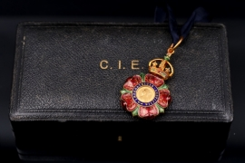 United Kingdom - The Most Eminent Order of the Indian Empire CIE neck badge