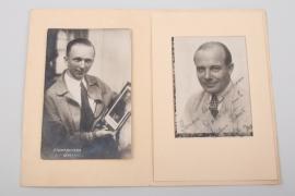 Udet, Ernst - 1927 signed photo + C.D. Chamberlin postcard