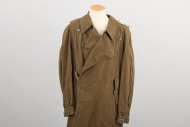 Wehrmacht tropical motorcyclist's coat for an infantry Leutnant