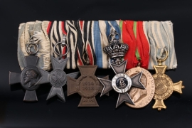 Medal Bar to a Bavarian officer/military official with six awards