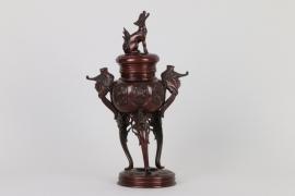 Räuchergefäß aus Bronze, China um 1920