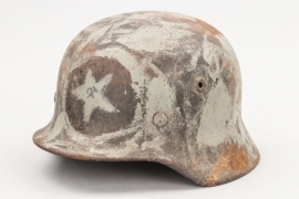 Russian Partisan's Wehrmacht helmet