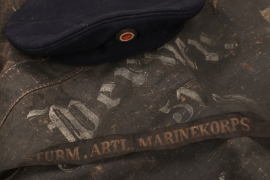 Imperial Germany - Seabag & Cap Marine (Storm Division Marine Corps)