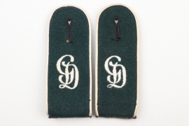 "Lt. Pöhlmann - Infanterie ""GD"" shoulder boards EM"