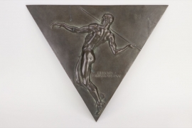 """Heeresmeisterschaft"" triangular bronze wall plaque"