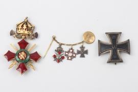 1914 Iron Cross 1st Class recipient medal grouping - Godet Berlin