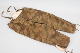 "Wehrmacht ""reversed splinter pattern"" reversible winter camouflage trousers"