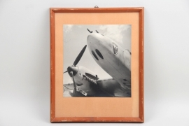 Framed photo of a German aircraft
