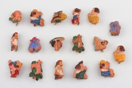 17 Third Reich WHW clay badges