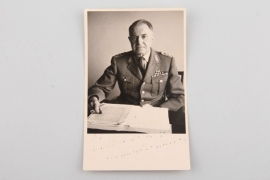 Signed portrait of a Knights Cross recipient (Bundeswehr)