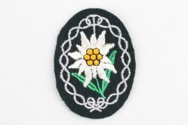 Heer Gebirgsjäger Edelweiss sleeve badge