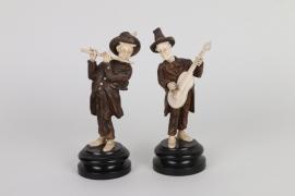 Ein Paar Bettelmusikanten, Tirol, 19. Jh.