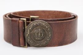 Bavaria - officer's field belt & buckle - Feldgrau