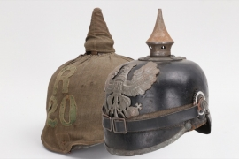 Prussia - M1915 spike helmet with cloth cover - EM