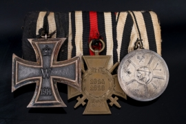 Medal Bar with Iron Cross and Silver Chamber Medal