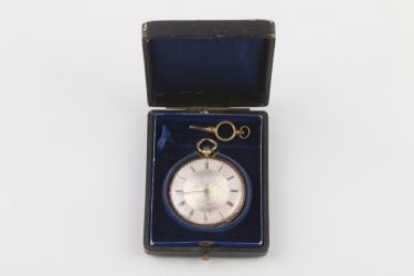 Damentaschenuhr, 14 K Gold im Originaletui, Paris um 1850