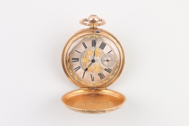 Schlüsseltaschenuhr, 18 K Gold, Grandjean & Co London, um 1865