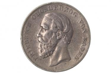 5 MARK 1876 G - FRIEDRICH I (BADEN)