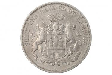 5 MARK 1876 J - HAMBURG
