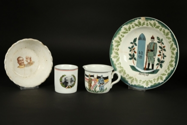 Imperial Germany -  WW1 lot of patriotic chinaware