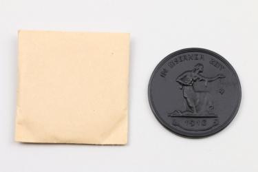 """Medaille 1916 """"In Eiserner Zeit"""" in Tüte"""