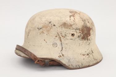 Wehrmacht M40 winter camo helmet - EF68