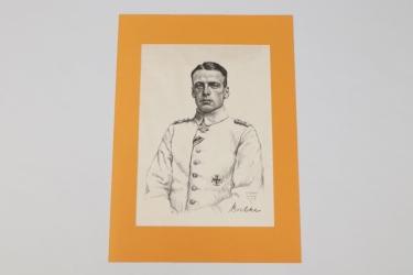 Imperial Germany - Oswald Boelcke lithograph print - O. Graf