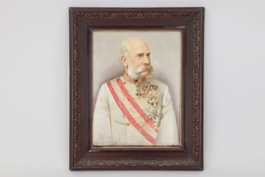 Austria - Kaiser Franz Joseph I. (oil on canvas)
