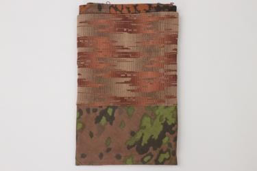 Curtain made of Waffen-SS oak leaf fabric