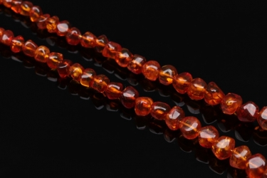 Necklace with polished amber