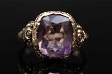 Golden amethyst ring
