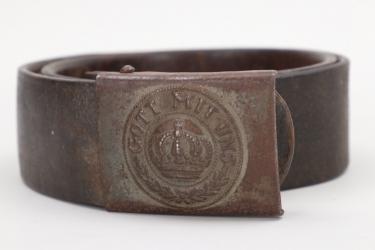 Prussia - fieldgrey buckle M1895 with belt - EM/NCO