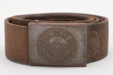 Prussia - M1895 fieldgrey buckle & belt - EM/NCO