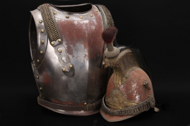 France - M1854 imperial guard cuirassier helmet & armour - EM