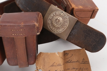 Prussia - matching M1909 ammunition pouches with belt & buckle