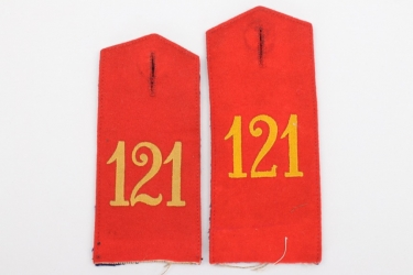 Württemberg  - two Inf.Rgt.121 shoulder boards - EM
