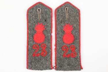 Prussia - Feldartillerie Reg. 23 shoulder boards - EM