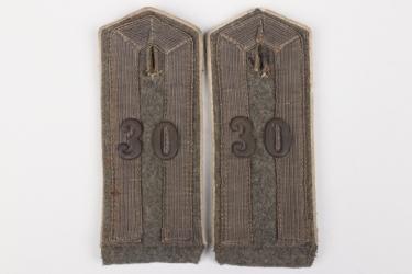 Prussia - Inf.Rgt.30 deputy officer shoulder boards