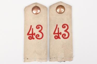 Prussia - Infanterie-Regiment 43 shoulder boards