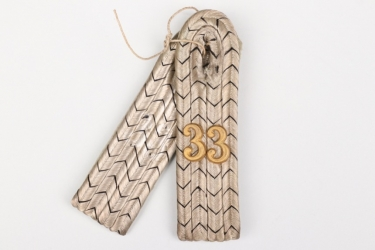 Prussia - Inf.Rgt.33 shoulder boards - Leutnant
