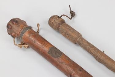 Imperial Germany - 2 + WWI trench art walking sticks