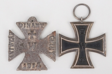 Prussia/France - 1914 Iron Cross 2nd class & shame cross